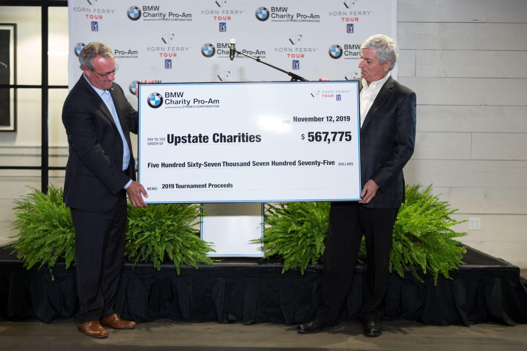 BMW Charity Pro-Am Presented by SYNNEX Corporation Awards Funds to Upstate Charities for 2019