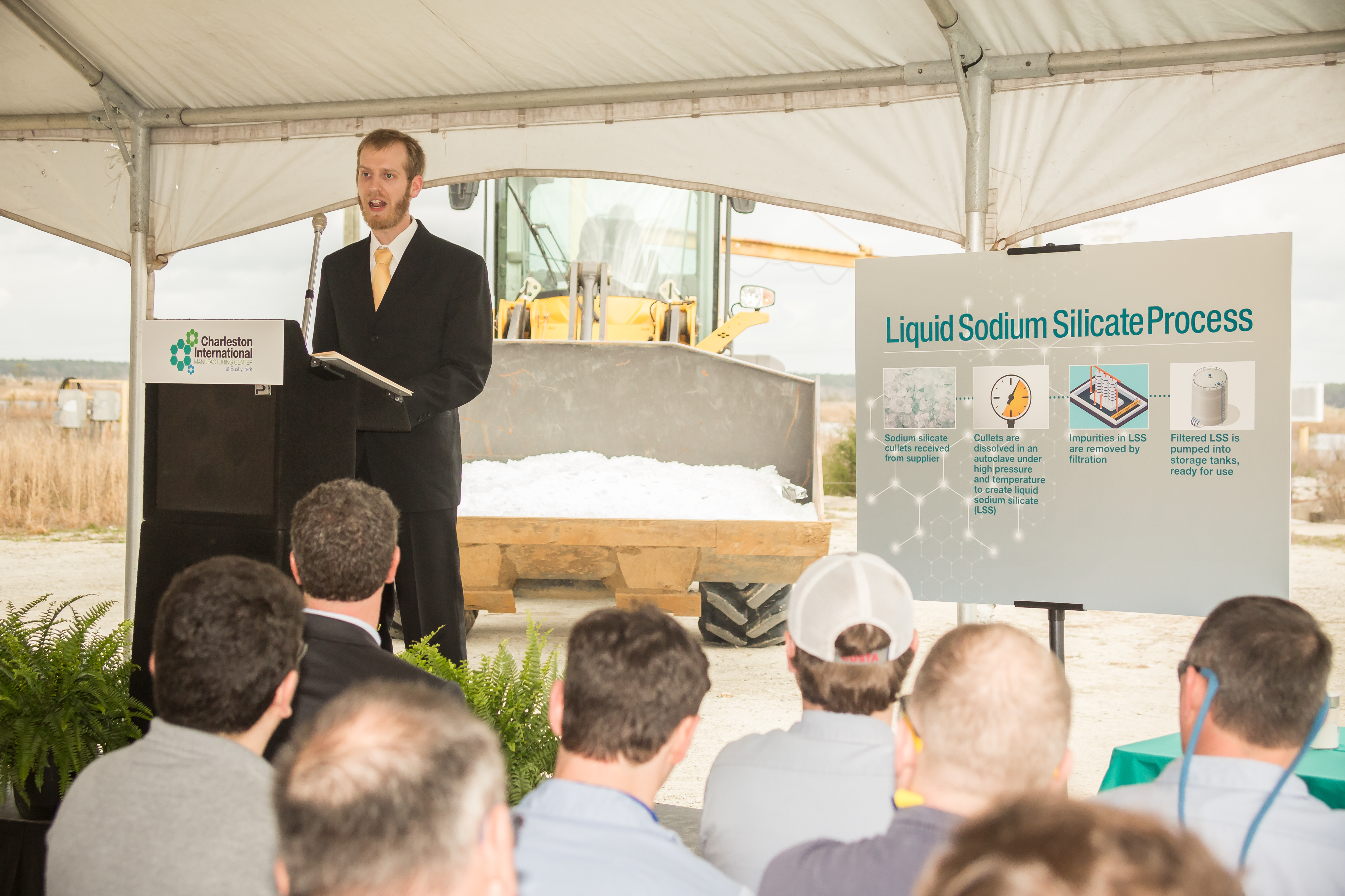 Charleston International Manufacturing Center Announces New Liquid Sodium Silicate Facility